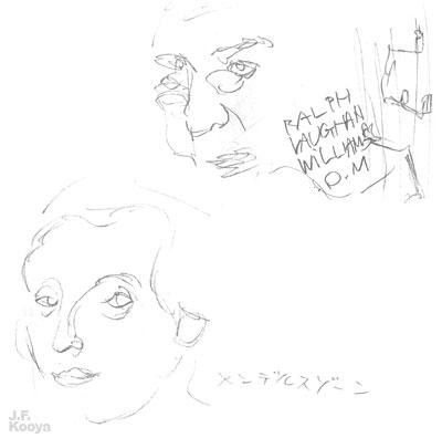 テレビクロッキー『メンデルスゾーンとR.V.ウィリアムス』by J.F.Kooya