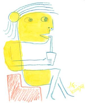 イラスト『きいろカフェ』by J.F.Kooya