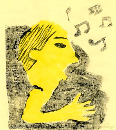 イラスト『歌声教室』by J.F.Kooya