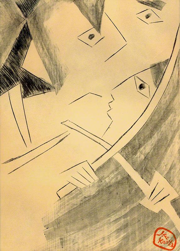 装画「宮本武蔵」(吉川英治) by J.F.Kooya